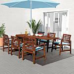 IKEA APPLARO Садовый стол и 6 стульев, коричневый окрашенных, (392.896.89), фото 2