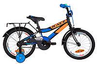 """Велосипед детский 16"""" Formula RACE CR 2019 (черно-оранжевый с синим)"""