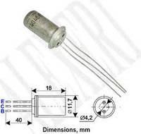 ГТ402А транзистор германиевый  PNP (0.5А 25В) 0.6W