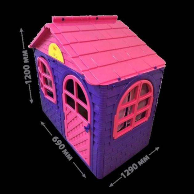 Детский пластиковый домик (Фиолетово-Розовый) Долони - 02550/10