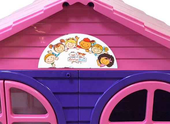 Детский пластиковый домик (Фиолетово-Розовый) Долони - 02550/10, фото 2