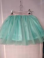Детская юбка пачка из фатина от производителя . Рост 98-116. Цвет ментол.