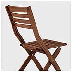 IKEA APPLARO Садовый стул, складной коричневый пятно (404.131.31), фото 4