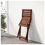 IKEA APPLARO Садовый стул, складной коричневый пятно (404.131.31), фото 5