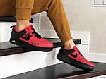 Женские кроссовки Nike Air Force (красно-черные), фото 3