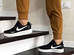 Женские кроссовки Nike Air Force (черно-белые), фото 4