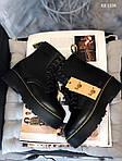 Женские зимние ботинки Dr. Martens Jadon Fur (черные), фото 3