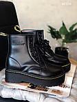 Женские зимние ботинки Dr. Martens Jadon Fur (черные), фото 5