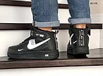 Мужские зимние кроссовки Nike Air Force 1 07 Mid LV8 (черные), фото 4
