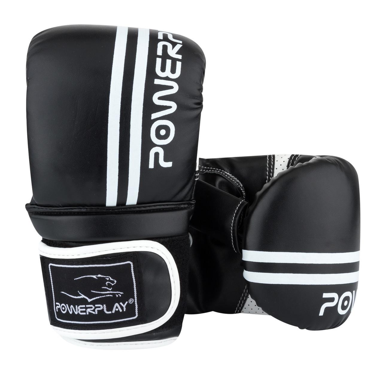 Снарядні рукавички PowerPlay 3025 Чорно-Білі S