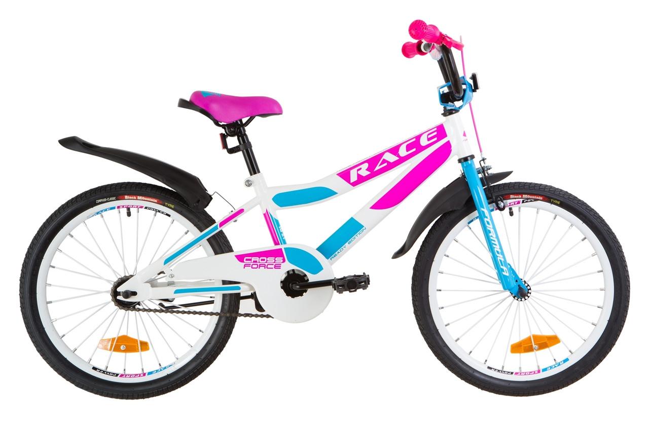 """Велосипед детский 20"""" Formula RACE 2019 (бело-розовый)"""