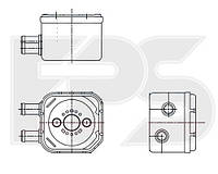Радиатор маслянный Volkswagen / Audi / Skoda / Seat / Ford (NRF) FP 12 B30
