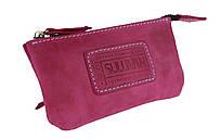 Ключница кожаная сумочка для ключей SULLIVAN k6(5.5) фуксия
