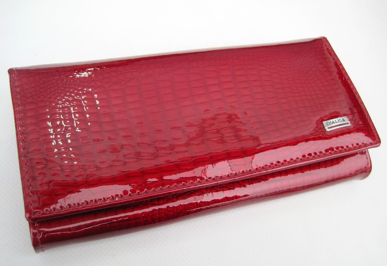 Женский кожаный кошелек Balisa В826-2 красный Лаковые кошельки Balisa оптом
