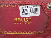Женский кожаный кошелек Balisa В826-2 красный Лаковые кошельки Balisa оптом, фото 4
