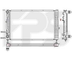 Радиатор охлаждения двигателя AUDI  A4 1995-1999 (B5)