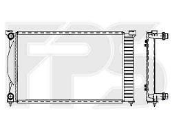 Радиатор охлаждения двигателя AUDI  A4 2001-2004 SDN / 2002-2004 AVANT (B6)