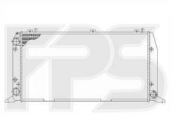 Радиатор охлаждения двигателя Audi 100 C3 / Audi 200 (FPS) FP 12 A856