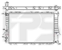 Радиатор охлаждения двигателя Audi 100 C4 1991-1994 2.0, 2.3, 2.5 TDI, 2.4 D (FPS)