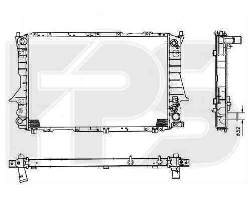 Радиатор охлаждения двигателя Audi 100 C4 1991-1994 2.6, 2.8 АКПП (FPS)