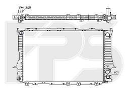 Радиатор охлаждения двигателя Audi 100 C4 1991-1994 2.6, 2.8 МКПП  (FPS)