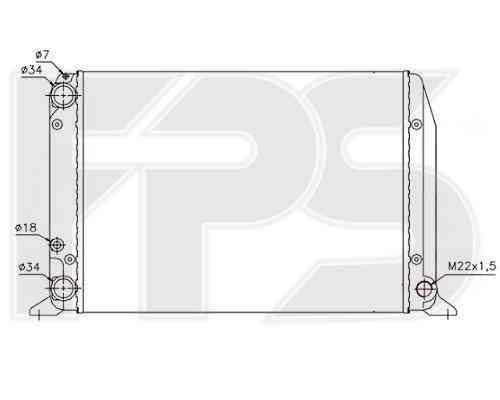 Радиатор охлаждения двигателя Audi 80 B2 (78-86) бенз. 1.6-1.8, 430x322x30 (FPS)