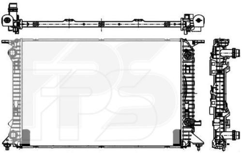 Радиатор охлаждения двигателя Audi A4 / Q5 (FPS) мех. сборка