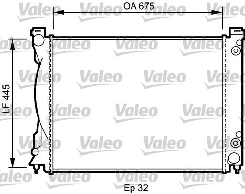 Радиатор охлаждения двигателя Audi A6 C6 (05-11) бенз, АКПП (FPS)
