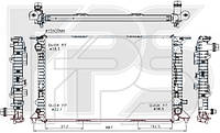 Радиатор охлаждения двигателя Audi A6 C7 / Porsche Macan (NRF) FP 12 A192-X