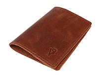 Обложка для паспорта кожаная SULLIVAN odp5(3) светло-коричневая