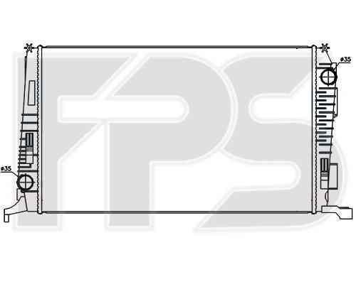Радиатор охлаждения двигателя Dacia / Renault (NRF) FP 56 A935-X