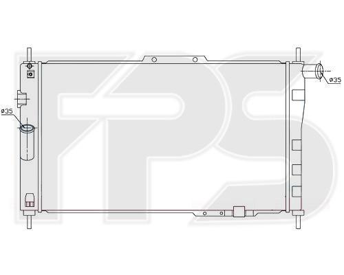 Радиатор охлаждения двигателя Daewoo Espero (FPS) FP 22 A690-P
