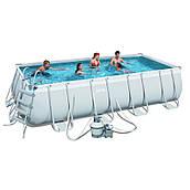 Каркасный бассейн Bestway 56671 (488х244х122) с песочным фильтром