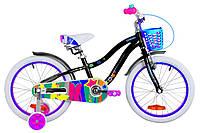 """Велосипед детский 18"""" Formula CREAM 2019 (черно-фиолетовый)"""