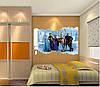 Интерьерная виниловая наклейка в детскую комнату на стену Холодное серце Frozen Эльза 3D (62х60см), фото 4