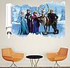 Интерьерная виниловая наклейка в детскую комнату на стену Холодное серце Frozen Эльза 3D (62х60см), фото 5
