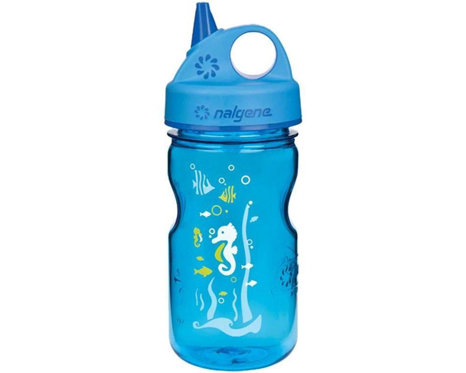Бутылка для воды детская Nalgene Grip-n-Gulp синяя  Art. 350 мл.