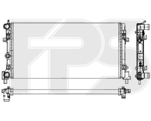 Радиатор охлаждения двигателя Skoda Rapid, Roomster / Volkswagen Polo (FPS) FP 74 A854-P