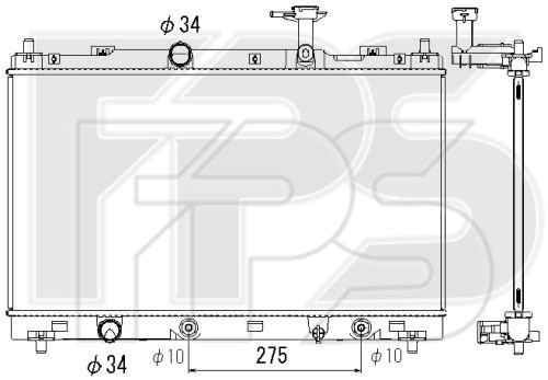 Радиатор охлаждения двигателя Suzuki SX4 / Vitara (Koyorad) FP 68 A349-X