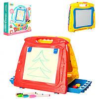 Двухсторонняя цветная досточка для рисования 8265 2в1 в картонной коробке Royaltoys