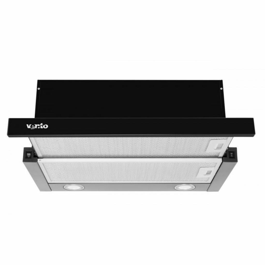 Вытяжка кухонная VENTOLUX GARDA 60 BK (1000) LED