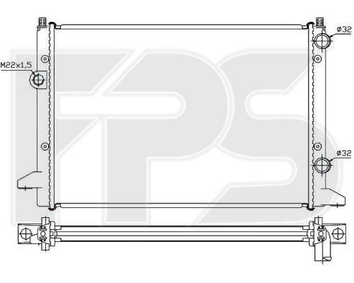 Радиатор охлаждения двигателя Volkswagen Passat B4 / B5 (AVA) FP 74 A456