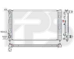 Радиатор охлаждения двигателя Volkswagen Passat B5 / Audi A4 B5 (FPS) FP 12 A403-P
