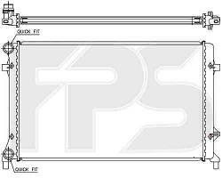Радиатор охлаждения двигателя VW Caddy III (04-10) 2.0 SDI, 1.6, 1.4, механика (FPS) FP 12 A472-P