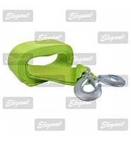 Трос буксировочный 3 т 4,0м ELEGANT  /зеленый 101 815