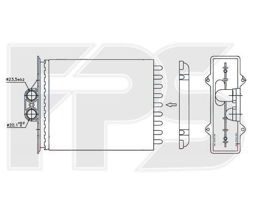 Радиатор печки Opel Vectra A / Vectra B (AVA) FP 52 N38-X