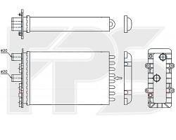Радиатор печки Peugeot 407