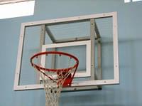 Баскетбольный щит тренировочный 1200х900 мм, из оргстекла толщиной 10 мм, с силовой антивибрационной рамой