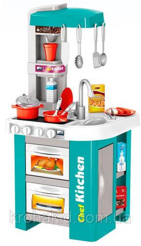 Детская кухня со светом и звуком 922-48 ( посудка, плита, продукты), 2 вида, размер 72.5-34.5-33 см
