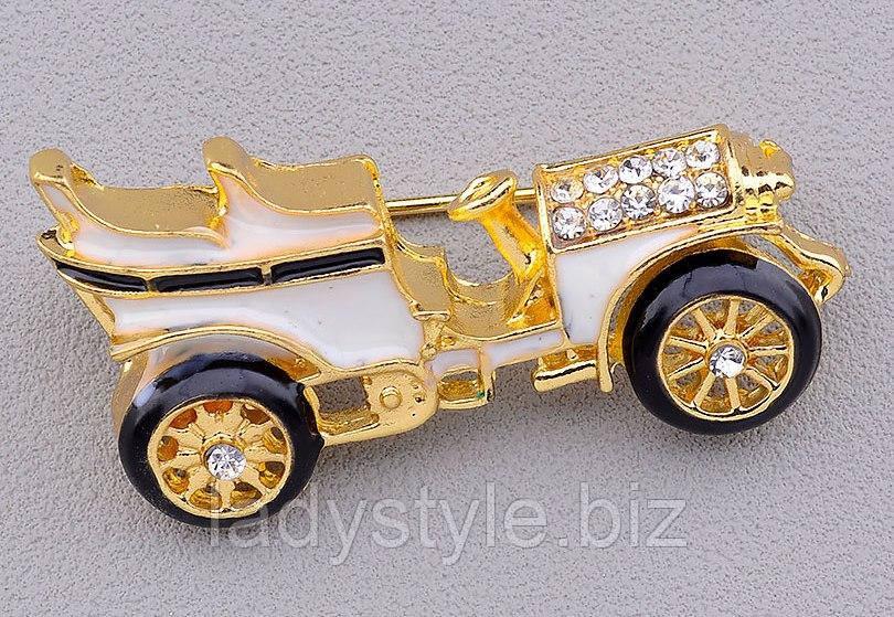 Гарненька брошка старовинна машина від студії LadyStyle.Biz